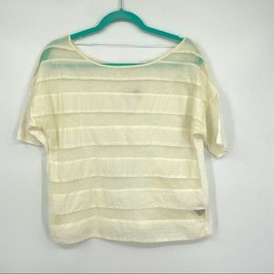 Ecote urban outfitter top shirt blouse ivory M